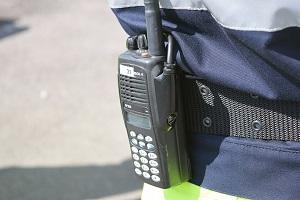 Photo of security radio